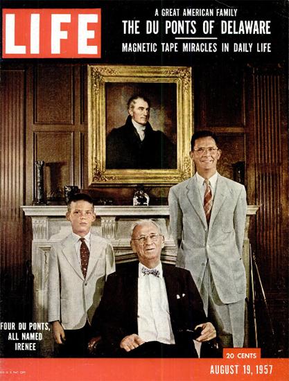 Irenee Du Ponds of Wilmington 1-4 19 Aug 1957 Copyright Life Magazine | Life Magazine Color Photo Covers 1937-1970