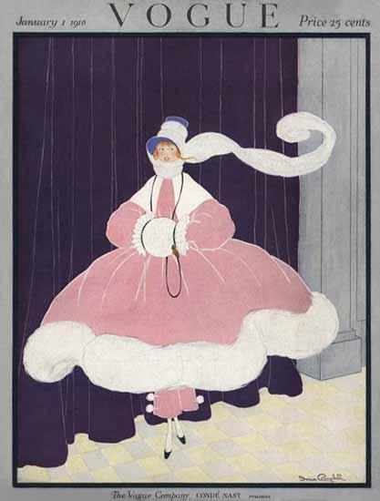 Irma Campbell Vogue Cover 1916-01-01 Copyright | Vogue Magazine Graphic Art Covers 1902-1958
