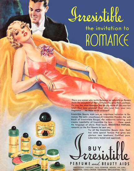 Irresistible Parfume Romance | Sex Appeal Vintage Ads and Covers 1891-1970
