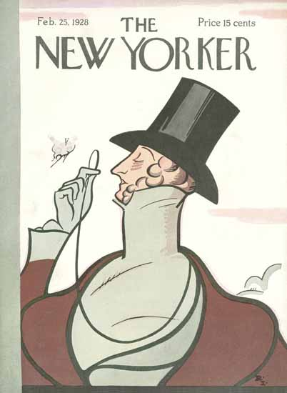 Irvin the Typeface of The New Yorker 1928_02_25 Copyright | The New Yorker Graphic Art Covers 1925-1945