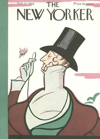 Irvin the Typeface of The New Yorker 1940_02_17 Copyright | The New Yorker Graphic Art Covers 1925-1945
