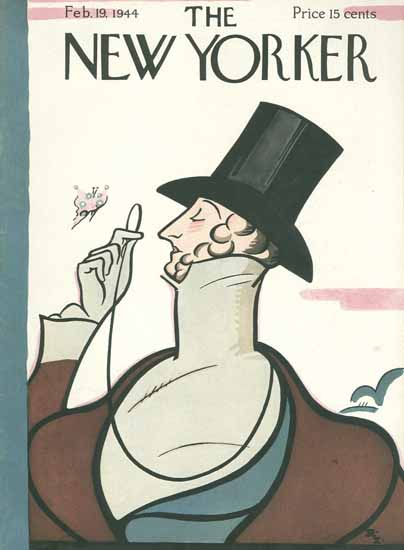 Irvin the Typeface of The New Yorker 1944_02_19 Copyright | The New Yorker Graphic Art Covers 1925-1945