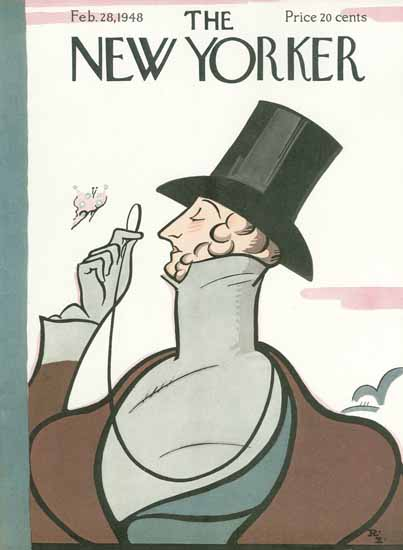 Irvin the Typeface of The New Yorker 1948_02_28 Copyright | The New Yorker Graphic Art Covers 1946-1970