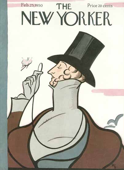 Irvin the Typeface of The New Yorker 1950_02_25 Copyright | The New Yorker Graphic Art Covers 1946-1970