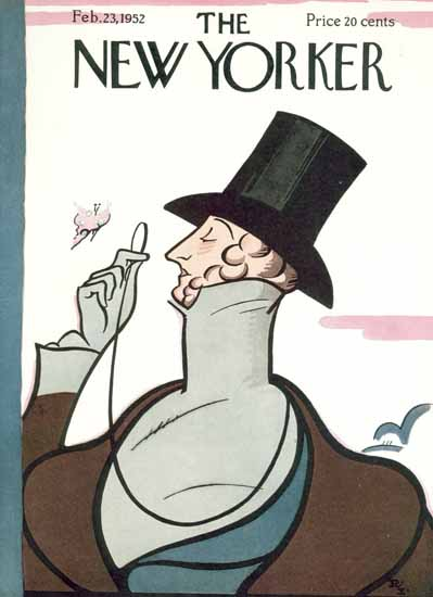 Irvin the Typeface of The New Yorker 1952_02_23 Copyright | The New Yorker Graphic Art Covers 1946-1970