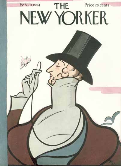 Irvin the Typeface of The New Yorker 1954_02_20 Copyright | The New Yorker Graphic Art Covers 1946-1970