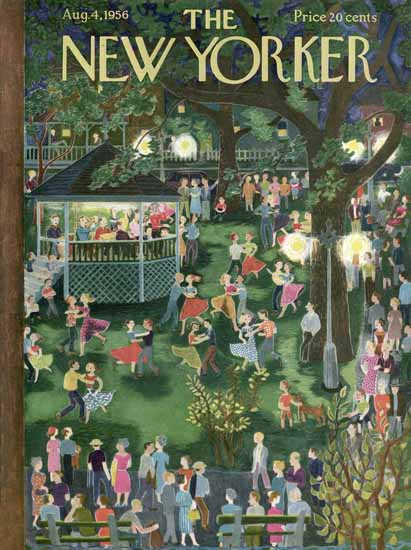Irvin the Typeface of The New Yorker 1956_08_04 Copyright | The New Yorker Graphic Art Covers 1946-1970