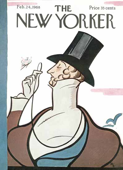 Irvin the Typeface of The New Yorker 1968_02_24 Copyright   The New Yorker Graphic Art Covers 1946-1970