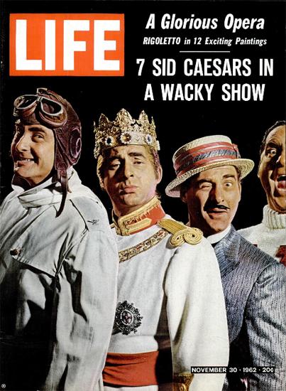 Isaac Sidney Caesar a Wacky Show 30 Nov 1962 Copyright Life Magazine   Life Magazine Color Photo Covers 1937-1970