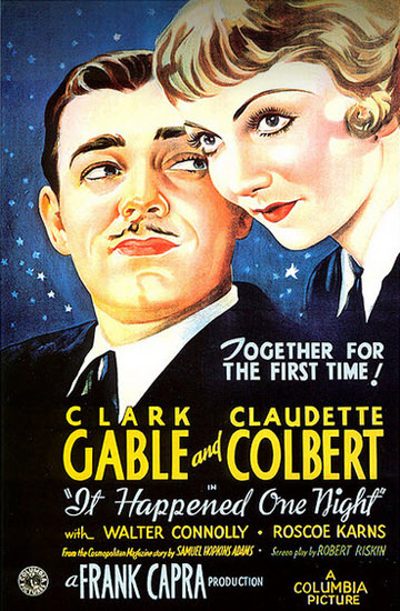 It Happend in One Night Clark Gable Colbert 1934 | Sex Appeal Vintage Ads and Covers 1891-1970