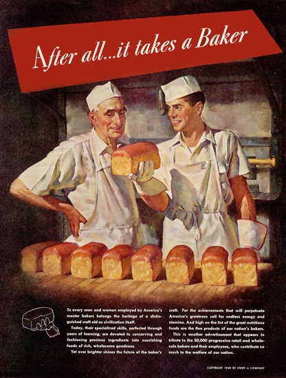 It Takes A Baker 1948 | Vintage Ad and Cover Art 1891-1970