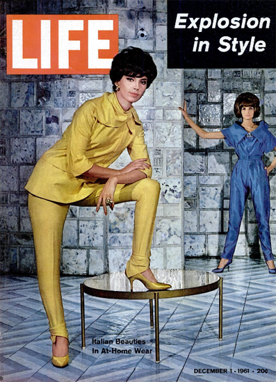 Italian Beauties in At-Home-Ware 1 Dec 1961 Copyright Life Magazine | Life Magazine Color Photo Covers 1937-1970
