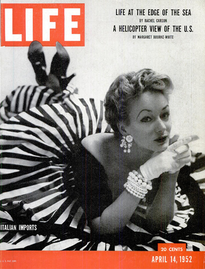 Italian Imports Fashions 14 Apr 1952 Copyright Life Magazine | Life Magazine BW Photo Covers 1936-1970