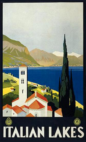 Italian Lakes Italy | Vintage Travel Posters 1891-1970