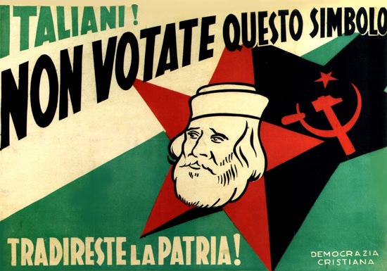 Italiani Non Votate Questo Simbolo Italy Italia | Vintage War Propaganda Posters 1891-1970