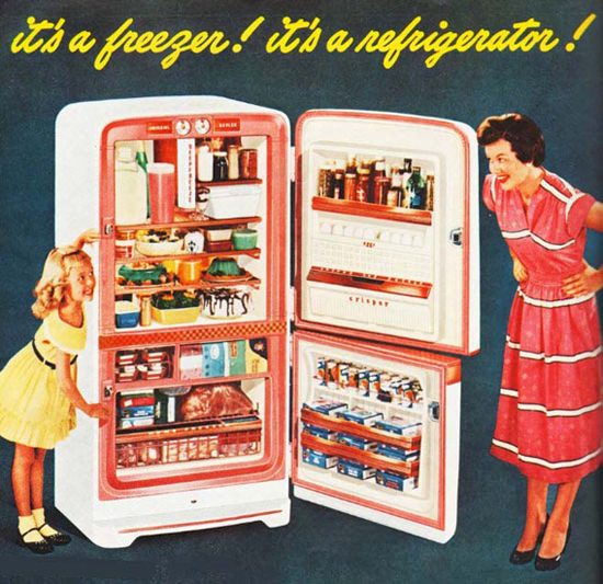 Its A Freezer Its A Refrigerator | Vintage Ad and Cover Art 1891-1970