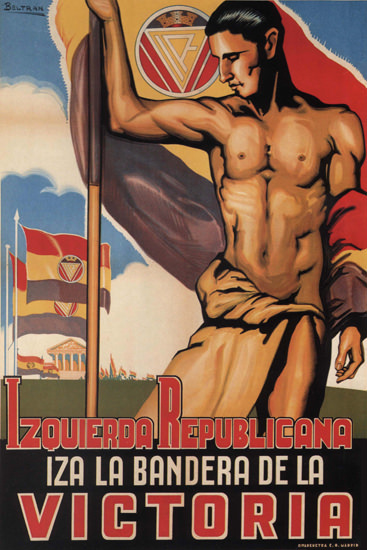 Izquierda Republicana Victoria Spain Espana | Vintage War Propaganda Posters 1891-1970