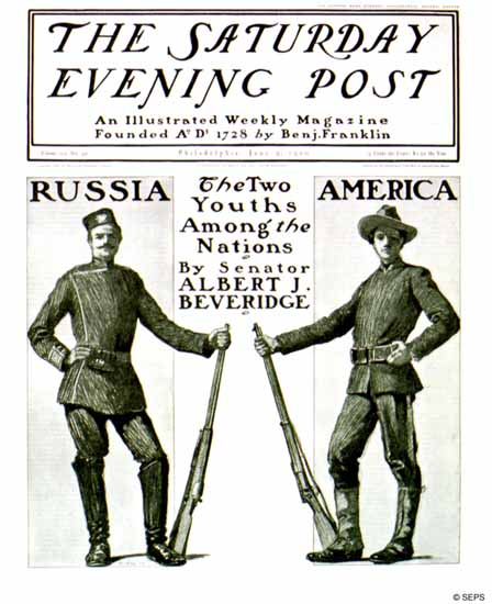 J Clay Saturday Evening Post Russia America 1900_06_09 | The Saturday Evening Post Graphic Art Covers 1892-1930