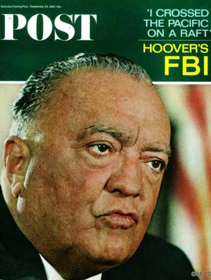 J Edgar Hoover Saturday Evening Post 1965_09_25   Vintage Ad and Cover Art 1891-1970