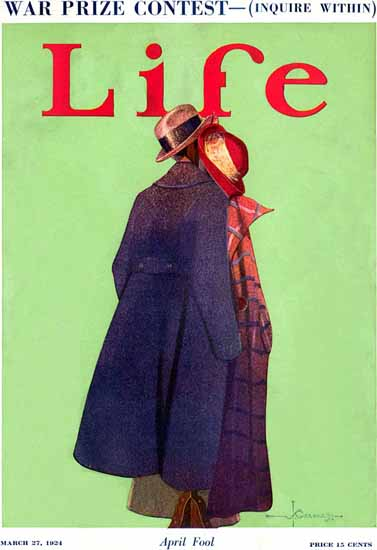 J Grenard Life Humor Magazine 1924-03-27 Copyright | Life Magazine Graphic Art Covers 1891-1936