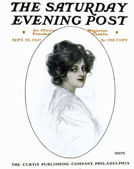 JA Cahill Saturday Evening Post Cover Art 1907_09_28 | The Saturday Evening Post Graphic Art Covers 1892-1930