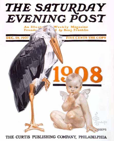 JC Leyendecker Artist Saturday Evening Post 1907_12_28   The Saturday Evening Post Graphic Art Covers 1892-1930