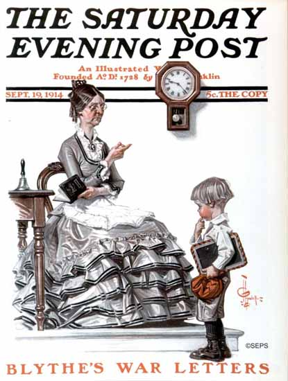 JC Leyendecker Artist Saturday Evening Post 1914_09_19 | The Saturday Evening Post Graphic Art Covers 1892-1930