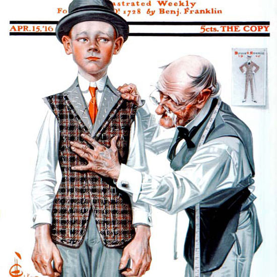 JC Leyendecker Artist Saturday Evening Post 1916_04_15 Copyright crop | Best of Vintage Cover Art 1900-1970
