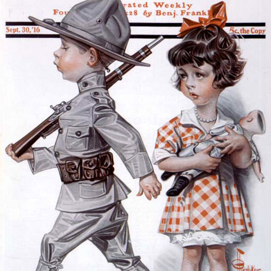 JC Leyendecker Artist Saturday Evening Post 1916_09_30 Copyright crop | Best of Vintage Cover Art 1900-1970