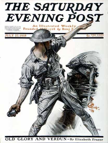 JC Leyendecker Artist Saturday Evening Post 1918_07_27 | The Saturday Evening Post Graphic Art Covers 1892-1930