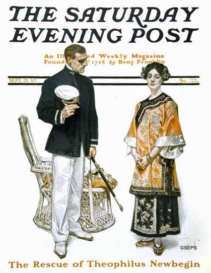 JC Leyendecker Cover Artist Saturday Evening Post 1907_09_21   The Saturday Evening Post Graphic Art Covers 1892-1930