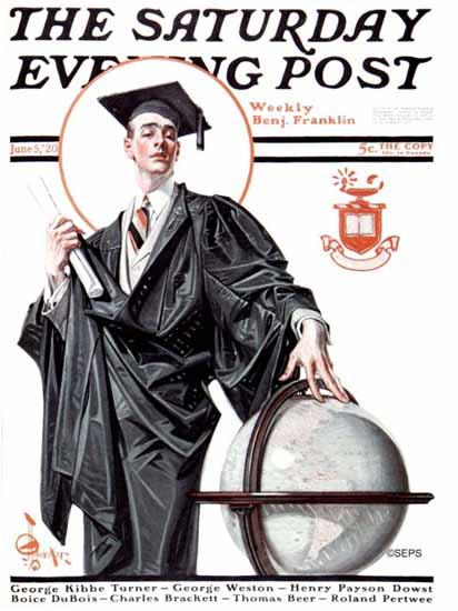 JC Leyendecker Cover Artist Saturday Evening Post 1920_06_05 | The Saturday Evening Post Graphic Art Covers 1892-1930