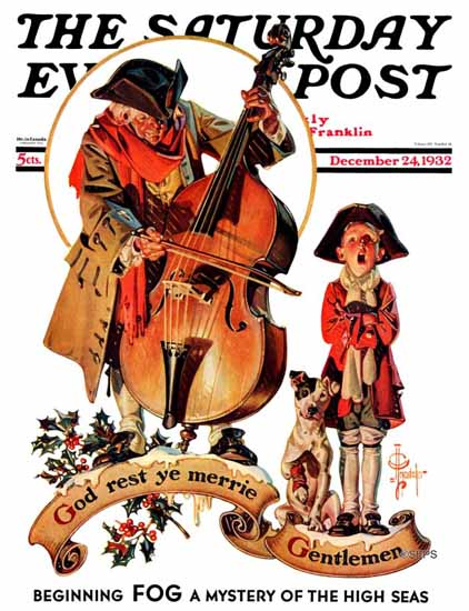 JC Leyendecker Cover Artist Saturday Evening Post 1932_12_24 | The Saturday Evening Post Graphic Art Covers 1931-1969