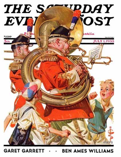 JC Leyendecker Cover Artist Saturday Evening Post 1933_07_01 | The Saturday Evening Post Graphic Art Covers 1931-1969