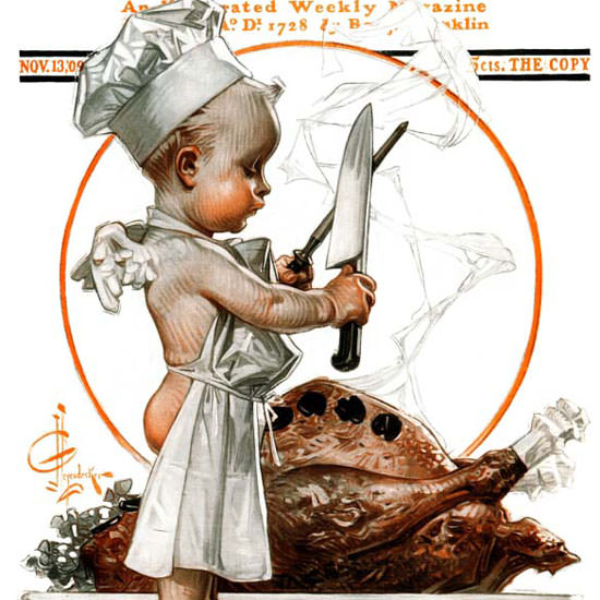 JC Leyendecker Saturday Evening Post 1909_11_13 Copyright crop | Best of Vintage Cover Art 1900-1970