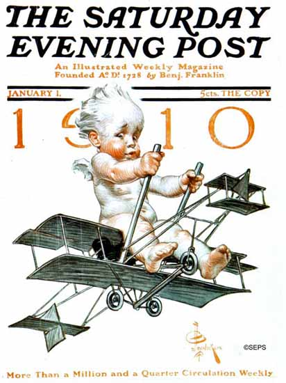 JC Leyendecker Saturday Evening Post 1910_01_01 | The Saturday Evening Post Graphic Art Covers 1892-1930