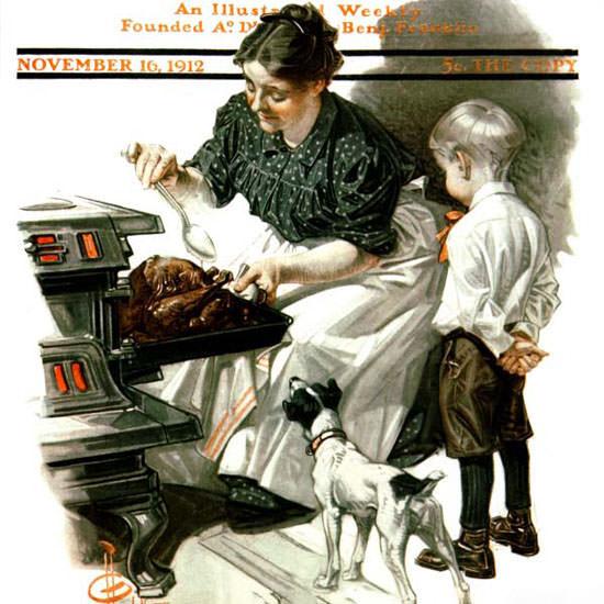 JC Leyendecker Saturday Evening Post 1912_11_16 Copyright crop | Best of Vintage Cover Art 1900-1970