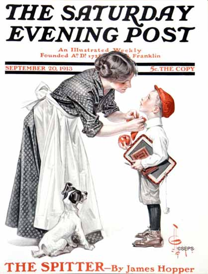 JC Leyendecker Saturday Evening Post 1913_09_20 | The Saturday Evening Post Graphic Art Covers 1892-1930