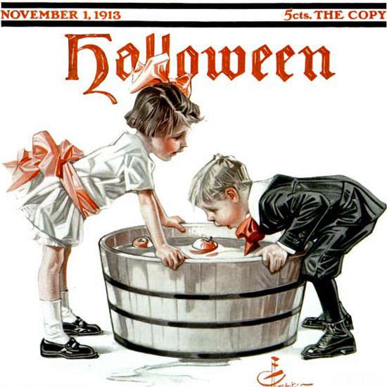 JC Leyendecker Saturday Evening Post 1913_11_01 Copyright crop | Best of Vintage Cover Art 1900-1970