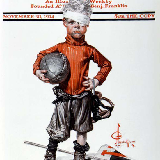 JC Leyendecker Saturday Evening Post 1914_11_21 Copyright crop | Best of Vintage Cover Art 1900-1970