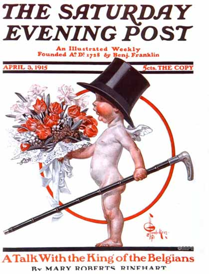 JC Leyendecker Saturday Evening Post 1915_04_03 | The Saturday Evening Post Graphic Art Covers 1892-1930
