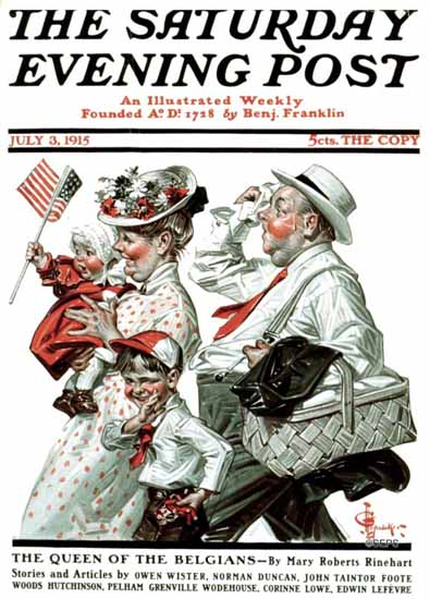 JC Leyendecker Saturday Evening Post 1915_07_03 | The Saturday Evening Post Graphic Art Covers 1892-1930