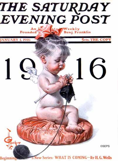 JC Leyendecker Saturday Evening Post 1916_01_01 | The Saturday Evening Post Graphic Art Covers 1892-1930