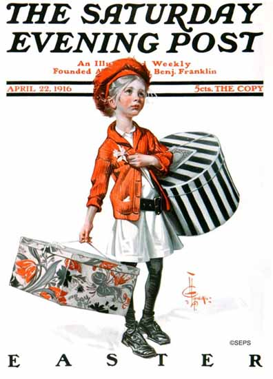 JC Leyendecker Saturday Evening Post 1916_04_22 | The Saturday Evening Post Graphic Art Covers 1892-1930