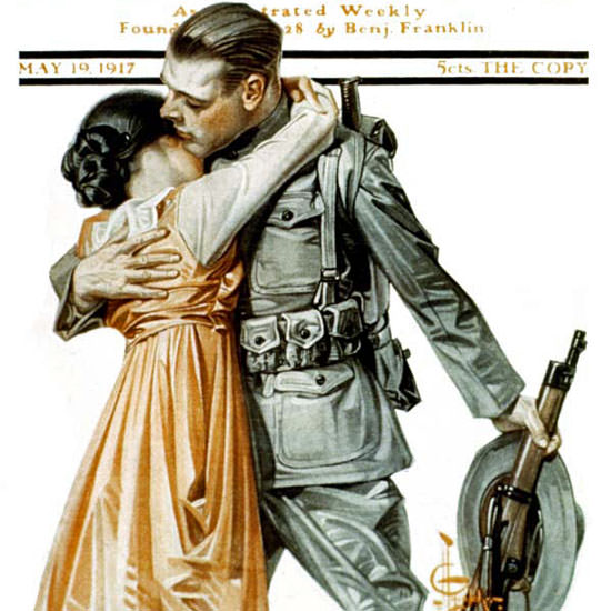 JC Leyendecker Saturday Evening Post 1917_05_19 Copyright crop | Best of Vintage Cover Art 1900-1970