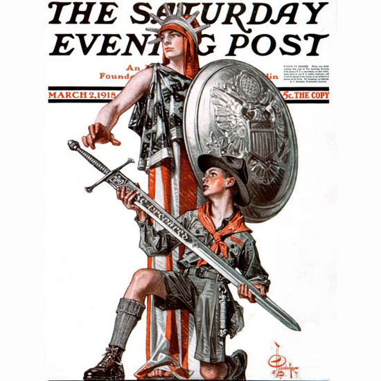 JC Leyendecker Saturday Evening Post 1918_03_02 Copyright crop | Best of Vintage Cover Art 1900-1970