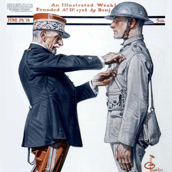 JC Leyendecker Saturday Evening Post 1918_06_29 Copyright crop | Best of Vintage Cover Art 1900-1970