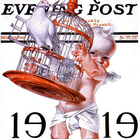 JC Leyendecker Saturday Evening Post 1918_12_28 Copyright crop | Best of Vintage Cover Art 1900-1970