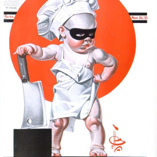 JC Leyendecker Saturday Evening Post 1921_11_26 Copyright crop | Best of Vintage Cover Art 1900-1970