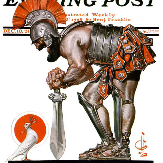 JC Leyendecker Saturday Evening Post 1921_12_10 Copyright crop | Best of Vintage Cover Art 1900-1970